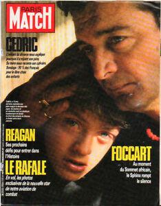 "paris match n°1956 beart bronson reagan ""le rafale"""