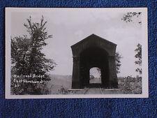 East Shoreham VT/Railroad Covered Bridge/RPPC/Unposted