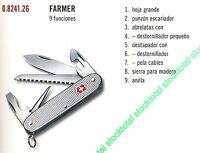 NAVAJA VICTORINOX FARMER 8 FUNCIONES 0824126  0.8241.26