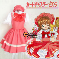 CARDCAPTOR SAKURA KINOMOTOSAKURA  Women Ladies Girls Anime Cosplay Costume