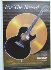 vintage magazine advert 1989 WASHBURN EA 40