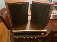 VINTAGE REALISTIC STEREO RECEIVER AND MC-500 PAIR OF SPEAKERS.