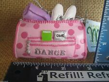 Cannon Falls Pink Glitzy Ballet Jazz Dance Bag With Towel & Shoes Ornament New