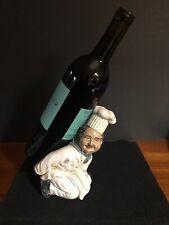 Chef kneeling Decorative Wine Or Olive Bottle Holder Kitchen Bar Decoration
