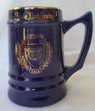 VINTAGE YALE UNIVERSITY BLUE AND GOLD BEER STEIN MUG