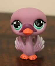 Littlest Pet Shop #1400 PURPLE SWAN Green Eyes Bird LPS
