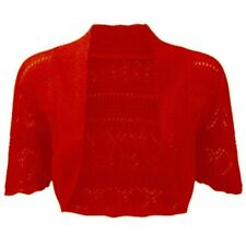 Ladies & kids Crochet Knitted Short Sleeve Shrug Cardigan Bolero Top Plus S-4XL