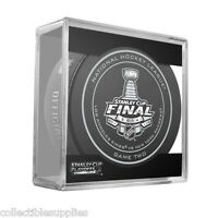 New 2014 NHL Stanley Cup Kings vs. Rangers Sherwood Official Game Puck #2 (Two)