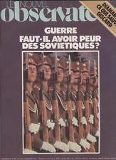 Le Nouvel Observateur   N°787   10 Au 18 Decembre 1979: Faut il avoir peur des s