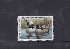 State Hunting/Fishing Revenues - DE - 1989-90 Duck Stamp DE-10 ($5) - MNH