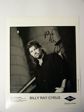 BILLY RAY CYRUS Signed AUTOGRAPHED 8X10 PUBLICITY B&W PHOTO COUNTRY MUSIC SINGER