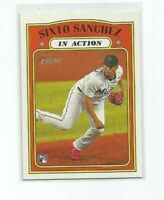 SIXTO SANCHEZ (Miami) 2021 TOPPS HERITAGE IN ACTION ROOKIE CARD #16