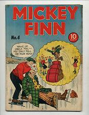 MICKEY FINN #4  [1944 VG+]  ICE SKATING COVER!