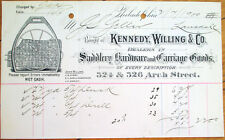 Saddle/Saddlery Hardware & Carriage 1900 Letterhead - Philadelphia, PA Penn