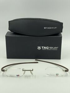 Brand New Tag Heuer Eyewear 3102 004 Brushed Nickel 53-16-140 Mens Rimless w/Cas