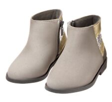 Gymboree Fairytale Forest Girls Grey Sparkle Silver Boots Size 2