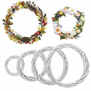 DIY Christmas Vine Ring Wreath Rattan Wicker Garland Wedding Xmas Party Decor