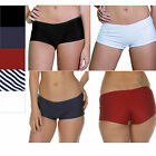 Lycra Short Court Bas De Bikini Natation Gym Garçon Jambe Boxer Noir Blanc