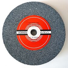 "Bench Grinding Wheel 6"" x 3/4"" x 1/2"" x 36 Grit Course AL Oxide 4450 RPM New"