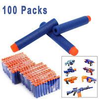 100 Packs, Foam Darts Refill Packs Toy Foam Bullets w/Soft Tip  for Nerf US