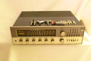 FISHER 800T 800-T Stereo AM FM Receiver RARE (Gunmetal faceplate) Silver