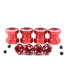 CNC machined Alloy hex adaptor 15mm offset for 12mm hex wheels-red suit Axial
