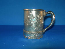 """Wilcox Silverplate Co."" QUADRUPLE Plate Silver Childs Cup W/Handle #3987 OLD!"