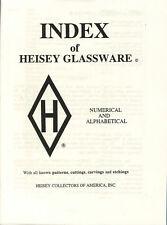 INDEX of Heisey Glassware