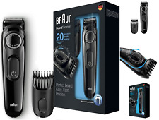 Mens Braun 20 Precision Beard Trimmer Rechargeable Shaver Hair Trim Clipper BNIB