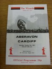 05/10/1991 Rugby Union: Aberavon v Cardiff  Official Programme(the item has been