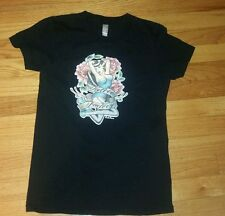 American Apparel Medium Short Sleeve T-Shirt Medium Black Tattoo Factory unisex
