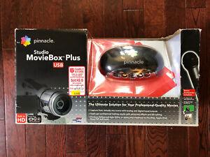 Pinnacle Studio MovieBox Plus 710 USB Fire Wire Capture Video Editing New Open