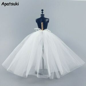 """White Petticoat For 11.5"""" Doll Slip Wedding Dress Underskirt Clothes Outfit 1/6"""