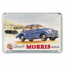 RETRO - QUALITY FIRST - MORRIS MINOR CAR ADVERT  JUMBO FRIDGE / LOCKER MAGNET