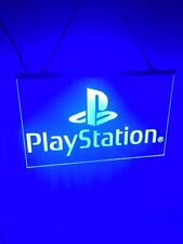 Play Station Game Room Blue Led Light Lighted Sign