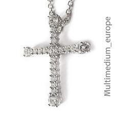 Silber Kreuz Anhänger Zirkonia 925 sterling  Kette silver cross pendant zirconia