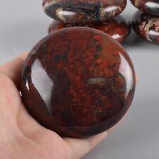 Hot Massage Stones Natural Brecciated Jasper Chakra Palm Stones Healing Crystals