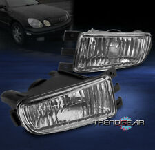 1998-2005 LEXUS GS300 GS400 GS430 FRONT BUMPER FOG LIGHTS JDM CHROME GLASS LENS