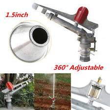 "1.5"" 360° Adjustable Impact Sprinkler Use for Agriculture Lawn Green Belt Spray"