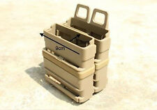 COYOTE AIRSOFT RIFLE MAG MAGAZINE POUCH DOUBLE FAST ATTACH MOLLE SYSTEM HOLDER