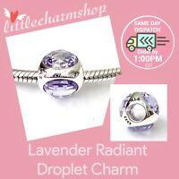 New Authentic Genuine PANDORA Lavender Radiant Droplet Charm - 792095LCZ RETIRED