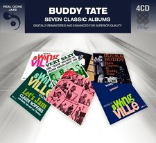 Buddy Tate SEVEN (7) CLASSIC ALBUMS Very Saxy GROOVIN' WITH Let's Jam NEW 4 CD