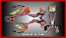 13-15 KTM SX XC SX-F XC-F SEMI CUSTOM GRAPHICS KIT CHROME