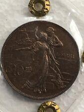 Moneta da 10 centesimi 1911 Q/FDC periziata Erpini Gianfranco