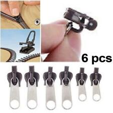 6Pcs Reusable Zipper Slider Puller Fix Zip Instant Repair Tool Kit Replacement