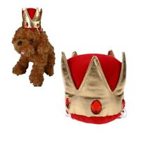 Pet Cat Dog Crown Hat King Cap for Puppy Small Pet Birthday Party w/Elastic Band