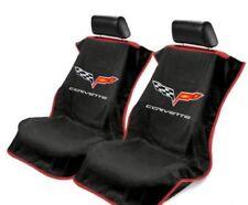 Pair 2 2005-2013 Chevrolet C6 Corvette Black Towel Protector Seat Armour Covers