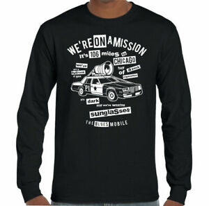 Blues Brothers T-Shirt We're On A Mission Mens Funny Retro Movie Film Quote