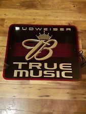 RARE BUDWEISER CROWN TRUE MUSIC NEON SIGN 27×24
