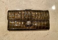 Brighton Brown Wallet With Animal Print Lining
